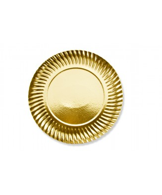 Assiette ronde or (x50)