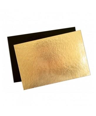 Plaque cartonné or/noir (x50)
